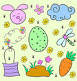 doodle of easter egg design cartoon vector image