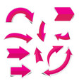 pink arrow sticker on white background vector image
