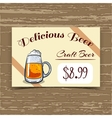 Price Tag Design Craft Beer vector image