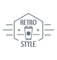 retro style logo simple style vector image