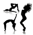 set of dancing woman vector image