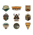 traveling outdoor badge collection scout camp vector image