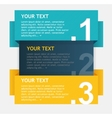colorful text boxes options banner vector image