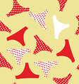 Seamless pattern panties woman vector image