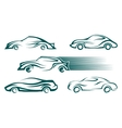 Modern cars design elements vector image vector image