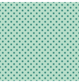 Tile pattern mint polka dots on green background vector image