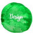 Abstract green watercolor circle background vector image