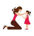mother daughter woman girl vector image