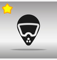 bike helmet black icon button logo symbol vector image
