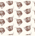 hand drawn cupcakes seamless pattern print for vector image