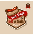 hot dogs emblem 3 vector image