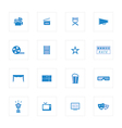 Movie and Cinema icons set design vector image