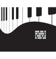 Musical background with piano vector image