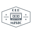 old music logo simple style vector image