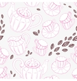 Seamless pattern with hand drawn tea porcelain vector image