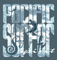 pacific surfer spirit vector image vector image