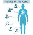medical icons and data and symbols vector image