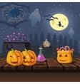 Cartoon Halloween Icons vector image