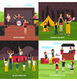 outdoor fest design concept vector image