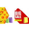big sale shopping bag with long shadow selling vector image