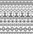 Ethnic striped seamless pattern vector image vector image
