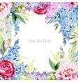 Watercolor floral frame vector image vector image
