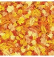 Autumn leaves mosaic EPS 10 vector image