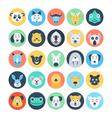 Animal Avatars Flat Icons 4 vector image