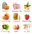 All holidays vector image