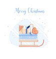 christmas decoration set of design vector image