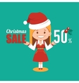 Christmas discount sale holiday banner vector image