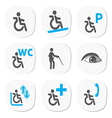 Disabled people signs vector image