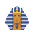 egyptian golden tutankhamen pharaoh mask symbol vector image