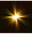 Light flare yellow effect vector image
