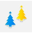 realistic design element christmas tree vector image