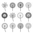 Set of stylized dandelions vector image