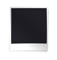 Instant blank photo template Empty photo frame vector image vector image