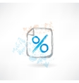 percentage grunge icon vector image vector image