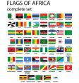 flags of Africa vector image