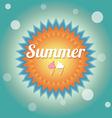 Summer holiday card vector image