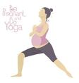 Pregnant woman doing yoga vector image