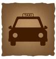 Taxi sign Vintage effect vector image