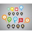 Social media network vector image vector image