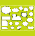 a speech balloon set vector image
