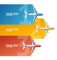 Airplane Travel Concept Option Banner vector image