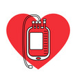 blood bag icon vector image