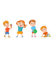 Featuring playing kids vector image