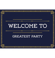 Gatsby Style Invitation in Art Deco or Nouveau vector image