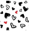 Heart dry brush seamless modern pattern vector image
