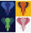 Low poly elephants set vector image